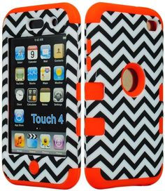 For 4th Generation iPod Touch Red /& Orange Tribal Aztec Hard Snap On Case