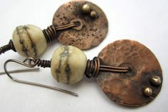 Melting Point. artisan earrings rustic primitive by beatnheart