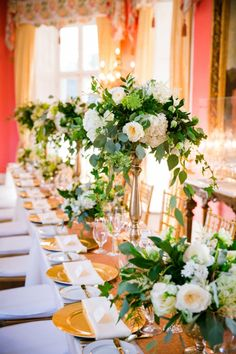 Elegant Gold White William Aiken House Wedding 0111 by charleston wedding photographer dana cubbage Flowers by Charleston Flower Market