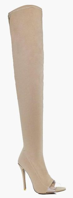 On SALE at 59% OFF! Darcy Thigh High Clear Insert Boot by Boohoo. We'll make sure your shoes keep you one stylish step ahead of the crowdWhether you're keeping it simple in sliders, l...