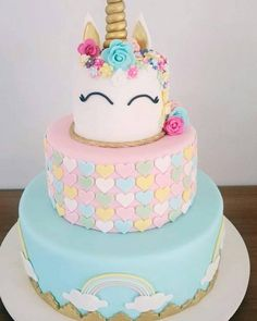 "Unicorn Theme Cake … – Einhorn-Thema-Kuchen … Related posts: Unicorn Theme Cake … Children's Birthday Cakes – ""The Ice Age"" cartoon theme birthday cake Geburtstagstorte von Roscoe Bakery … pink zebra party Cupcakes, Cupcake Cakes, Beautiful Cakes, Amazing Cakes, Unicorn Birthday Parties, Birthday Cake, Unicorn Foods, Unicorn Cakes, Savoury Cake"