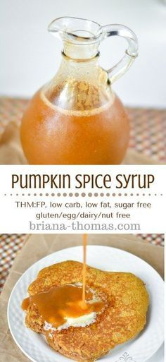 This Pumpkin Spice Overnight Oatmeal is THM:E, low-fat, sugar free, and gluten/egg/dairy/nut free! Pumpkin Recipes, Fall Recipes, Low Carb Recipes, Cooking Recipes, Pumpkin Pumpkin, Pumpkin Puree, Trim Healthy Momma, Pumpkin Spice Syrup, Pumpkin Spice Sauce Recipe