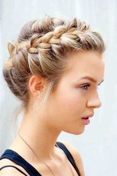 95 Awesome Side French Braids for Long-haired Divas 25 Updo Short Hairstyles Ideas for Women, 9 Quick and Easy Hairstyles for Kids with Long Hair, 66 Best Wedding Hairstyles for Long Hair 10 Inspiring Indian Wedding Hairstyles for Long Hair You. Braided Updo For Short Hair, Braided Hairstyles For Wedding, Short Wedding Hair, Braids For Short Hair, Wedding Updo, Hair Plaits, Twisted Braid, Wedding Rings, Easy Updo Hairstyles