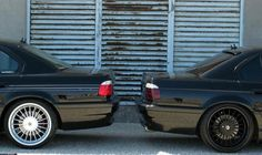 BMW E38 Alpina silver vs black Softline 20""