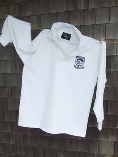 Nantucket Whaler Rugby in Moby White. Designed on Nantucket