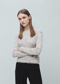 Rippenpullover - Cardigans und pullover für Damen | MANGO