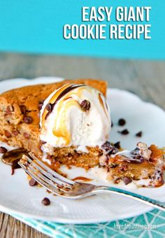 Quick, easy and crazy delicious giant cookie recipe. Great for making cookie cakes, cookie bars or a cookie pie!