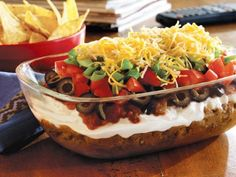Low Fat 7 Layer Taco Dip