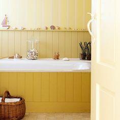 Wood boarder for bathtub - adds style!