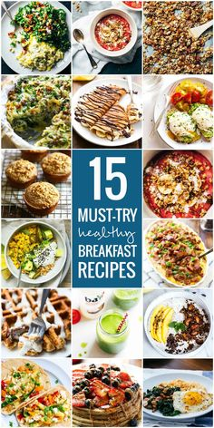 15 Must-Try Healthy Breakfast Recipes – Pinch of Yum 15 Must-Try Healthy Breakfasts – simple fruit bowls, smoothies, muffins, and egg dishes to make the morning awesome! Best Breakfast, Healthy Breakfast Recipes, Brunch Recipes, Healthy Snacks, Vegetarian Recipes, Healthy Breakfasts, Healthy Eating, Cooking Recipes, Healthy Recipes