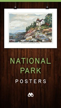 Home decor, wall art, paintings, prints & unique gifts by KristinGibsonFineArt National Park Gifts, National Park Posters, National Parks, Smoky Mountain National Park, Acadia National Park, Park Art, Mountain Art, French Country Decorating, Walking In Nature