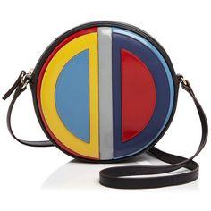 Etienne Aigner Canteen Bag Crossbody ($265) ❤ liked on Polyvore featuring bags, handbags, shoulder bags, black multi, cross body, retro handbags, multicolor handbags, multi color purse and etienne aigner