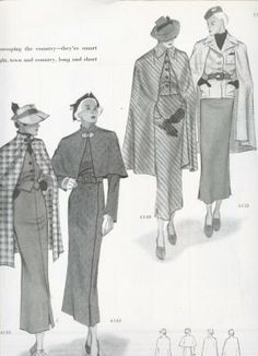 March 1935 Delineator Magazine Spring | Butterick patterns | Butterick 6155 (right) reissued as Butterick 6329
