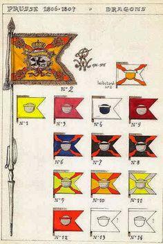 Stendardi dei rgt. dragoni prussiani