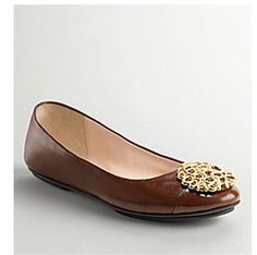 Coach Lauren Flats In Brown $59.99 (62% off)