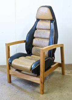 Porsche 928 Car Seat Armchairs — Stephen Finch Furniture Maker
