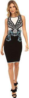 Versace Collection Color Block Print Sheath Dress