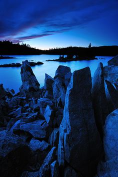 Standing Stones, Wolf Lake, Ontario, Canada by Peter Bowers