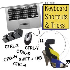 """""""Keyboard Shortcuts and Tricks for the Editor!"""" by polyvore on Polyvore  for a mac, the ones that say control its really command. but on my mac both conrtol y or command y dont work."""