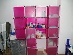 Regal für s Kinderzimmer pink, zum Selber stecken