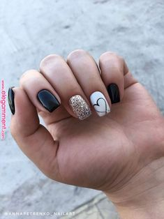 Stylish Winter Short Square Nail Designs To Copy This Season; - Stylish Winter Short Square Nail Designs To Copy This Season; Cute Acrylic Nails, Acrylic Nail Designs, Cute Nails, Pretty Nails, Nail Art Designs, Nails Design, Short Nails Acrylic, Pedicure Designs, Nails Yellow