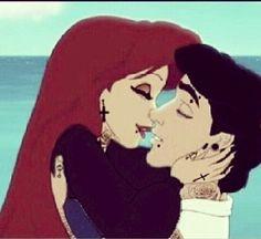 Punk Disney Ariel & Eric