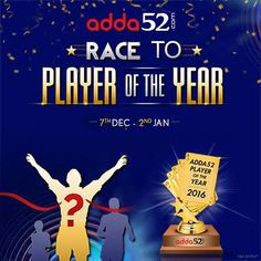 """#Adda52.com """"Player of the Year 2016"""" in Final Action #Poker #OnlinePoker"""