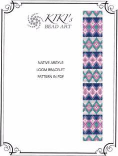 Bead loom pattern Native argyle ethnic inspired por KikisBeadArts