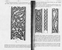 12th century embroidery pattern Think machine quilting, trapunto, boutis, cord quilting, reposet, a versatile design.