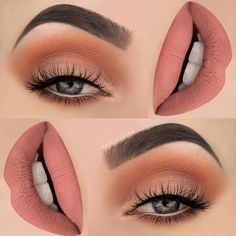 "Luxy Lash on Instagram: ""Peachy orange look by ✨@makeupthang✨! Beautiful look to kick start the first day of spring! We love it!❤️ TAG a friend who would wear this! SHOP: WWW.LUXY-LASH.COM Or click the link in our bio now!"""