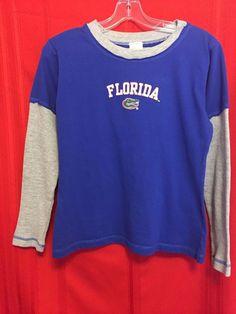 Sideline Apparel Gator Sweatshirt Unisex Size M 100% Cotton Blue Gray Sl. Logo F #SidelineApparel #FloridaGators