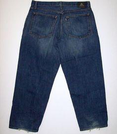 106a730b Mens Levis Silver Tab Baggy Jeans Tag Size 36 X 30 Silvertab Dark Wash Hem  Wear