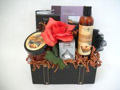 Mango Raspberry Sorbet Mother's Day gift basket by www.NaturallyInnovative.com