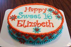 Girly Chevron birthday cake