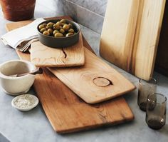 DIY Kitchen Cutting Board — House & Home. Can you imagine this with a big piece of driftwood? would be gorgeous, though I suppose most drift wood is soft.