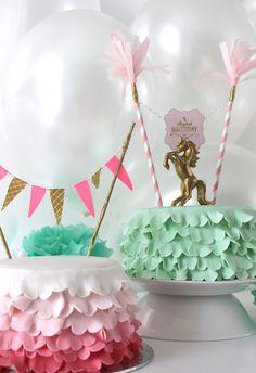 Mint Green Ruffled cake