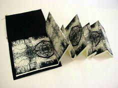 Dramatic book craft!!     From: http://www.artdes.mmu.ac.uk/rightonpress/bookfair/2008/images/Jo-Gomez-Untitledbookfair.jpg