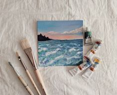 It is very beautiful Small Canvas Paintings, Small Canvas Art, Cute Paintings, Mini Canvas Art, Cool Art Drawings, Art Drawings Sketches, Mini Tela, Arte Do Harry Potter, Arte Van Gogh