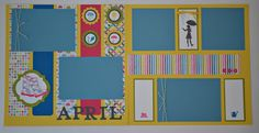 Paper, Pansies and Pachyderms: 12x12 layout