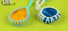 This tutorial shows how to wrap a Stone easily (Make Cabochon using Macrame knots). With this style you can make your own amulets, pendants or necklaces, also you can wrap a coins or anything else. It's easy to make and suitable for kids and beginners. I hope you will find this helpful! Video: . Source: http://www.youtube.com/user/MacrameSchool
