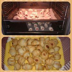 Salatini, food, rotolini con wurstel, cucina, home made, aperitivo!!