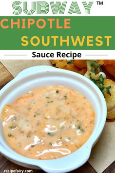 Subway Chipotle Southwest Sauce Recipe If you're a fan of Subway's delicious dipping sauce then this Copycat Recipes, Sauce Recipes, Meat Recipes, Cooking Recipes, Fondue Recipes, Cooking Time, Subway Chipotle Southwest Sauce, Southwest Recipe, Egg Recipes For Breakfast