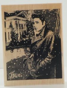 elvis blue christmas art by Joe Petruccio