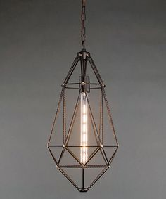 Another great find on #zulily! Wire Drop Pendant Light #zulilyfinds