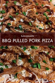 Pulled Pork Pizza, Bbq Pork, Party Snacks, Appetizers For Party, Backyard Cookout, Homemade Bbq, Thing 1, Favourite Pizza, Comfortfood
