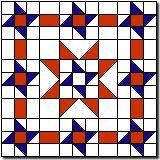 "Coast Guard Star quilt block tutorial 24"""