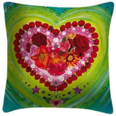 Passion Heart Art Cushion