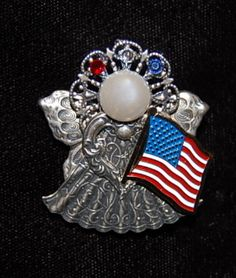 Patriot Spirit Angel Pin Silver