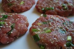 Fresh tuna burgers to cook up for us -- don't forget the scallions and soy sauce! #SavingsareintheKitchen