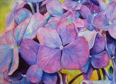 Hydrangea from Annette Straugheir Paintings Exotic Flowers, Art Club, Hydrangea, Landscape Paintings, Watercolor, Portrait, Gallery, Artist, Artwork